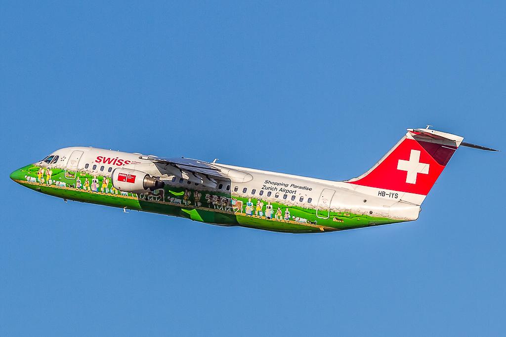 Swiss HB-IYS, Avro Regional Jet RJ100