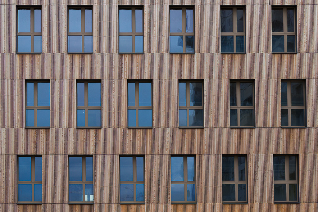 Seestadt - Holzfassade